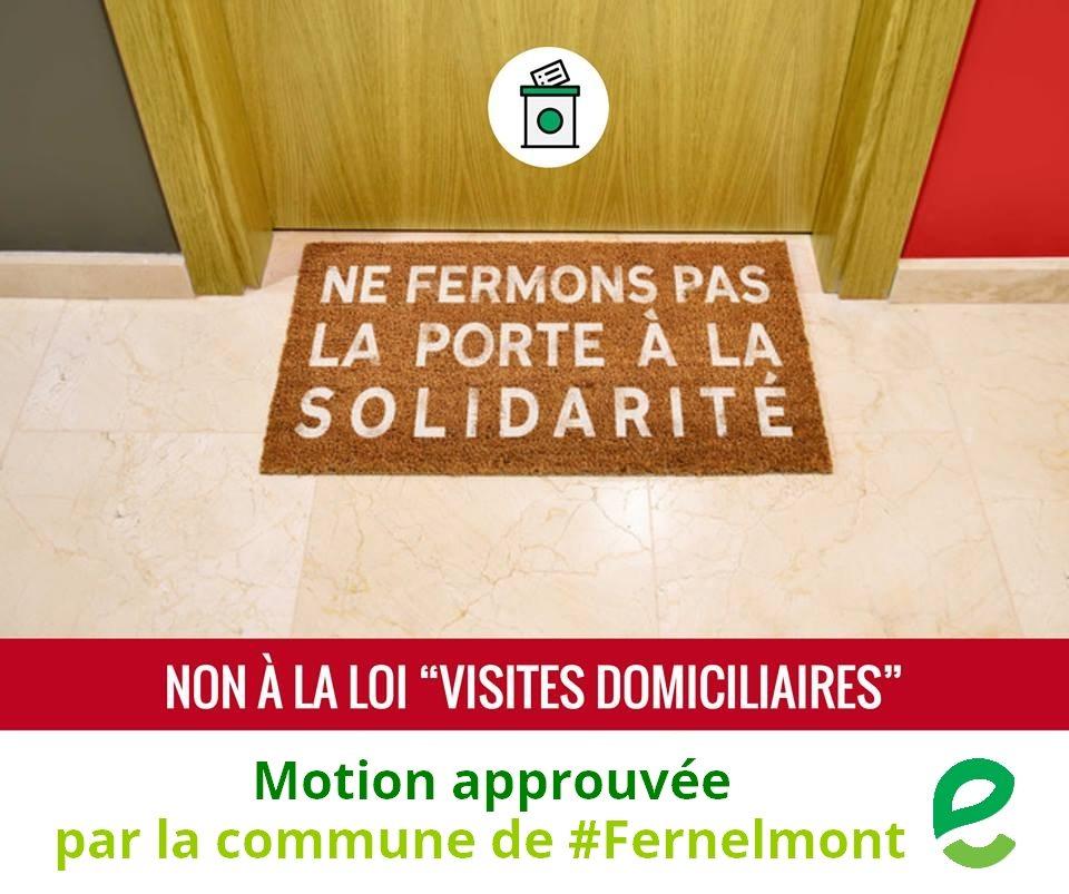 Motion contre les visites domiciliaires – 15 février 2018