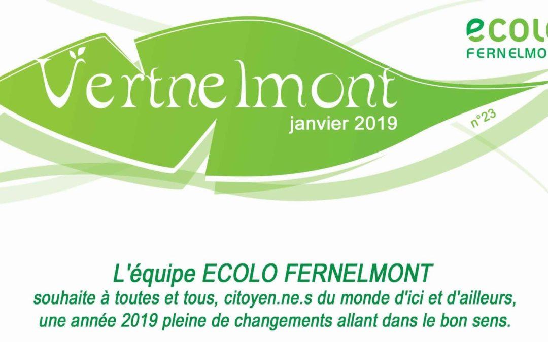 Vertnelmont n°23 – Janvier 2019