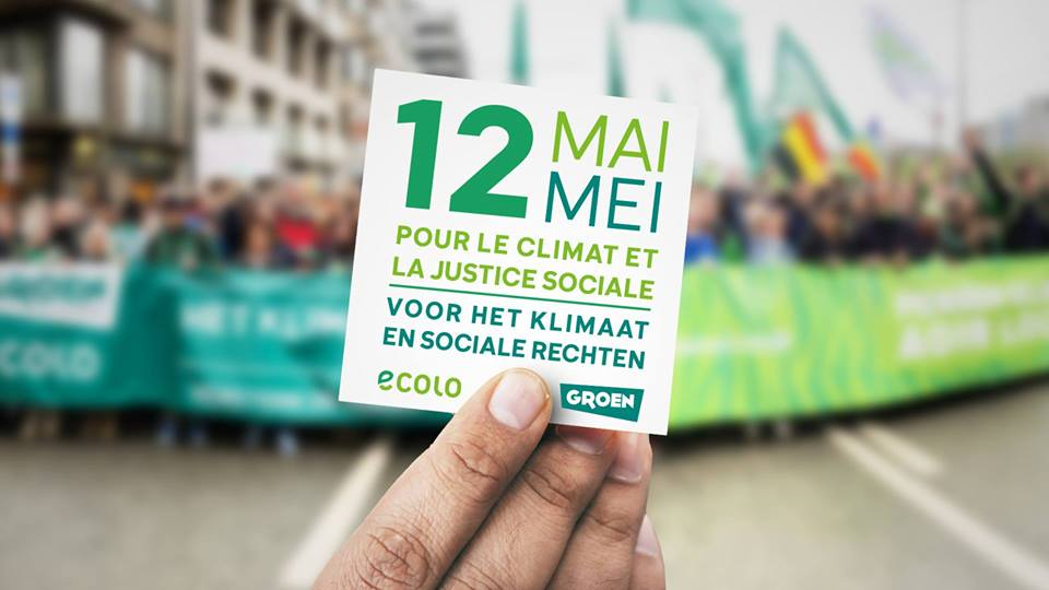 """Marche """"Climat & Justice sociale pour tous"""" le dimanche 12 mai à Bruxelles"""