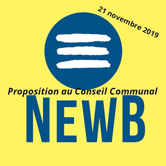 Conseil communal du 21 novembre 2019 : Ecolo propose d'investir dans la banque NewB